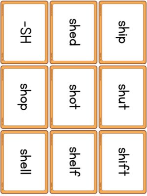 Preview of Word cards, SH