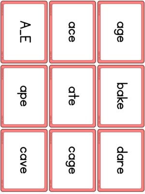 Preview of Word cards, Long A - Set 1
