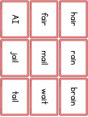 Preview of Word cards, Long A - Set 2