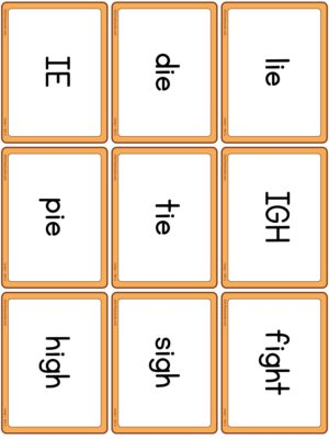 Preview of Word cards, Long I - Set 2