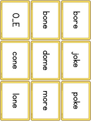 Preview of Word cards, Long O - Set 1