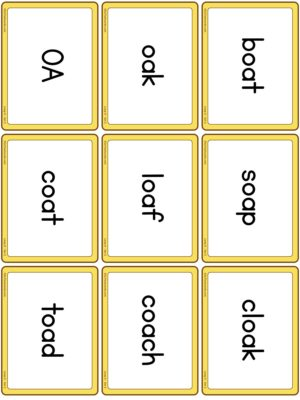Preview of Word cards, Long O - Set 2