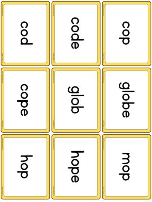 Preview of Word cards, Set 3 - O