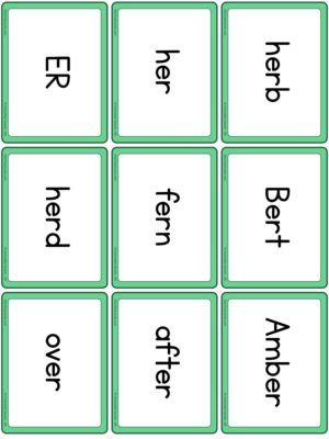 Preview of Word cards, ER