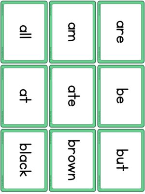 Preview of Word cards, Set 2 (Primer)