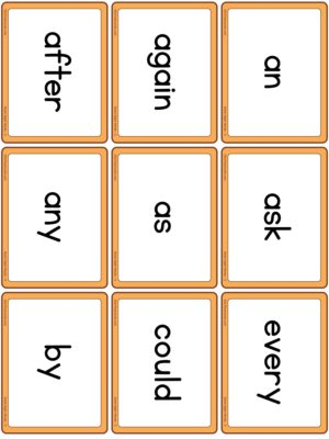 Preview of Word cards, Set 3 (Grade 1)
