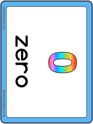 Preview of Numbers with spelling, Large, Rainbow