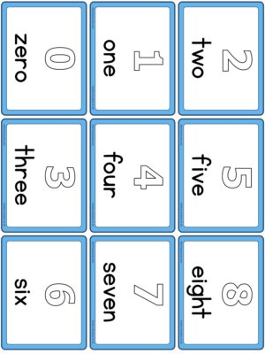Preview of Numbers with spelling, Small, Outline