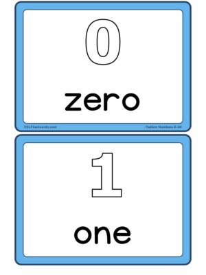 Preview of Numbers with spelling, Medium, Outline