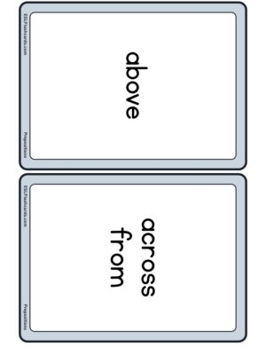 Preview of Word cards, Medium