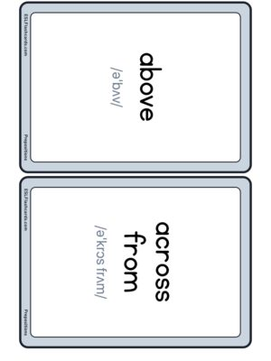 Preview of Words with IPA, Medium