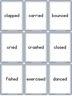 Preview of Word cards, Small