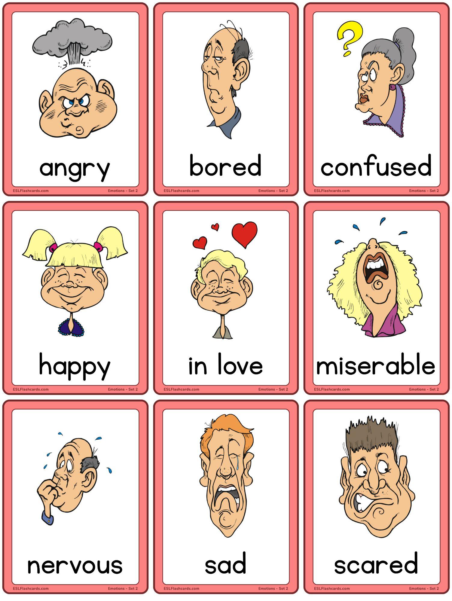 Emotions Flashcards For Adults Esl Flashcards