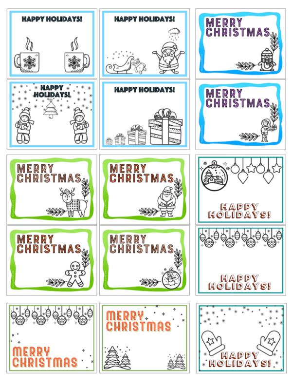 Printable Christmas Cards Esl Flashcards