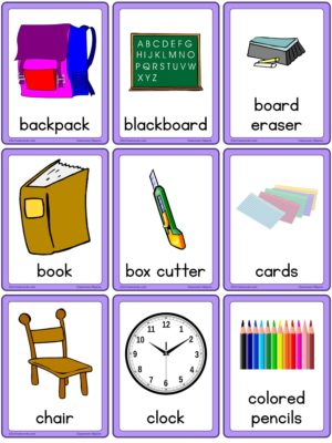 Preview of Images with labels, Small, American English