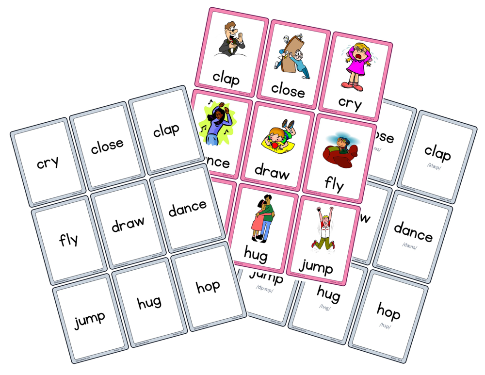 sample word cards