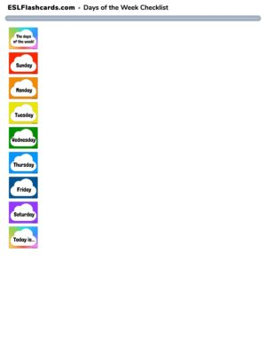 Preview of Checklist, Rainbow