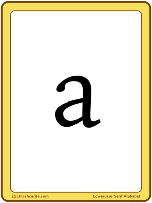 Preview of Letters, Large, lowercase
