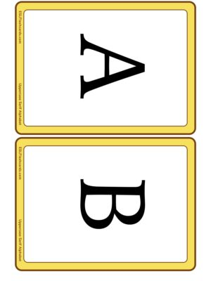 Preview of Letters, Medium, uppercase